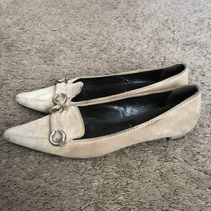 Prada Women's Beige Suede Shoes